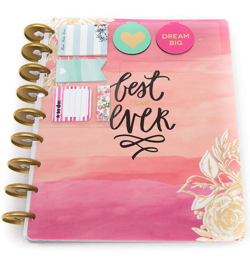 Best Year Ever 12 Month Happy Planner Box Kit Undated Actual Planner