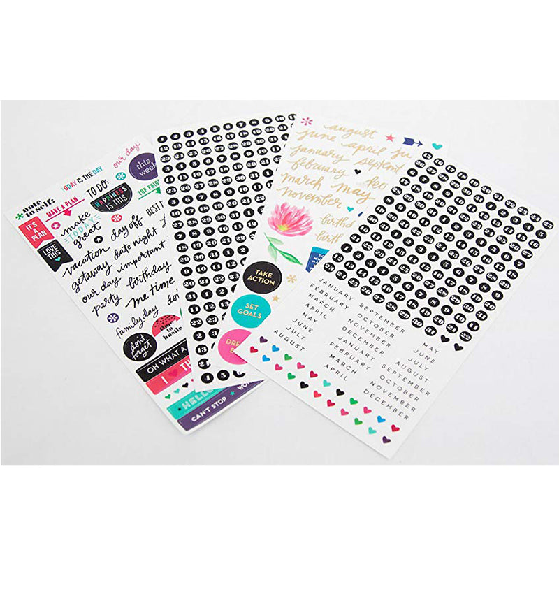 Best Year Ever 12 Month Happy Planner Box Kit Undated Sticker Sheets