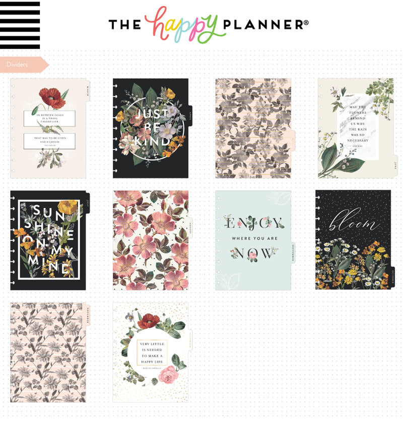 Vintage Botanical 2019-2020 Deluxe Happy Planner (18 Months) Dividers