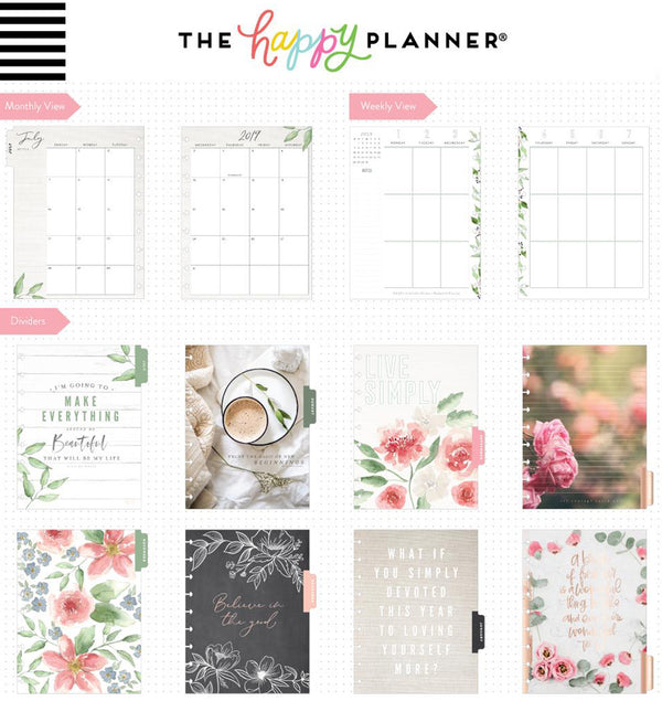 Homestead 2019 - 2020 Medium Happy Planner (18 Months) Page Layouts and Dividers
