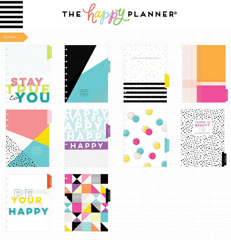 I am a Happy Planner 2019 - 2020 Medium Happy Planner (18 Months) Dividers