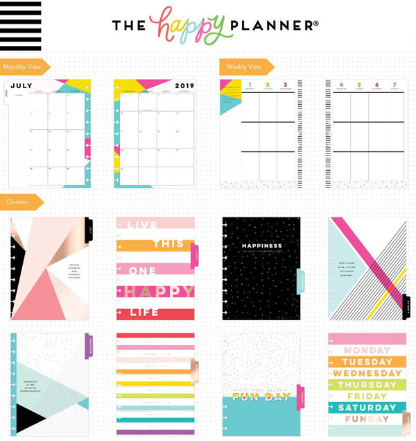 I am a Happy Planner 2019 - 2020 Medium Happy Planner (18 Months) Page Layouts & Dividers