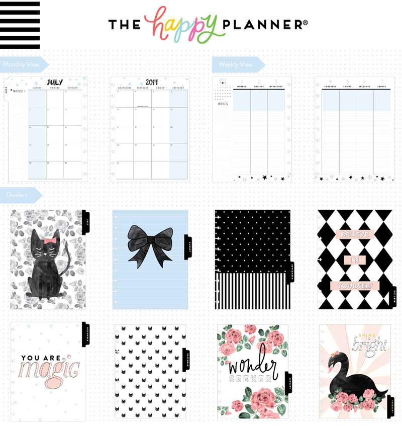 Life Is Sweet 2019 - 2020 Medium Happy Planner (18 Months) Page Layout & Dividers