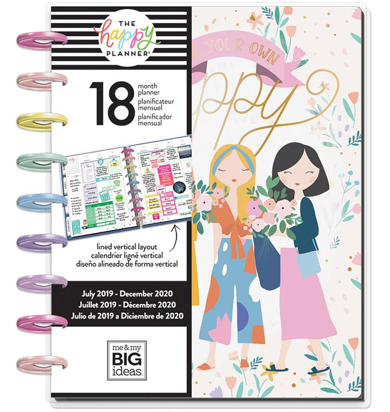 Squad Life 2019 - 2020 Medium Happy Planner (18 Months) Cover with Tab