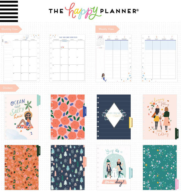 Squad Life 2019 - 2020 Medium Happy Planner (18 Months) Page Layouts and Dividers