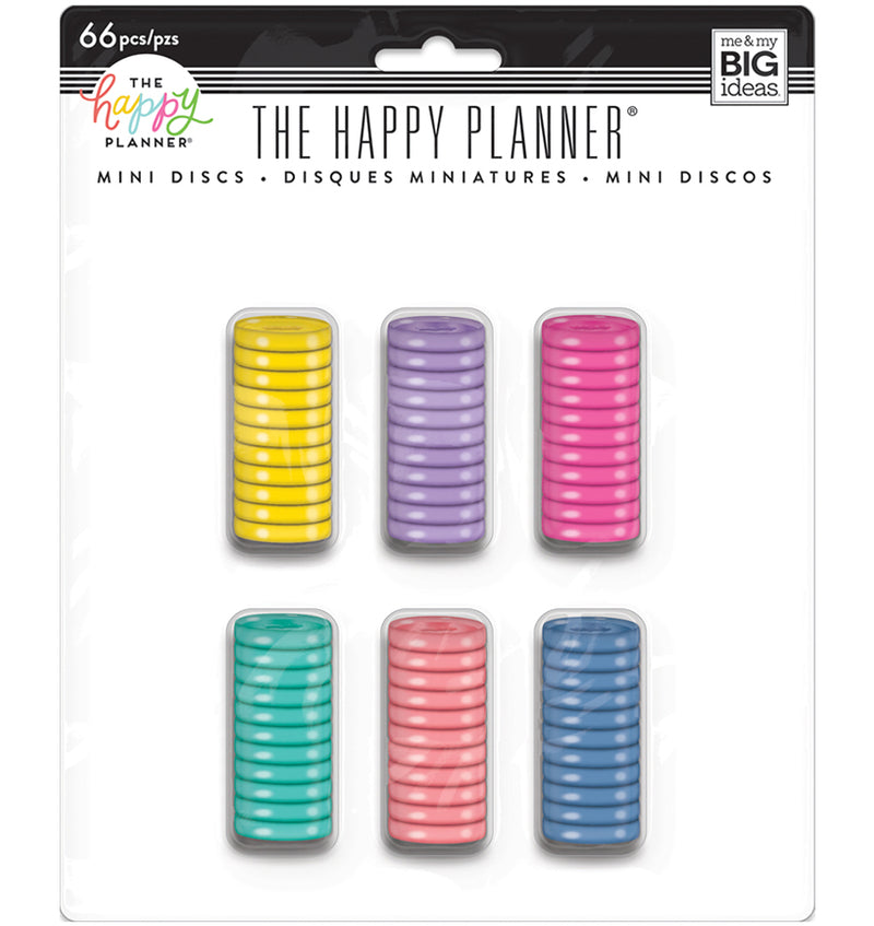 Mini Happy Planner Discs Value Pack (66pcs)