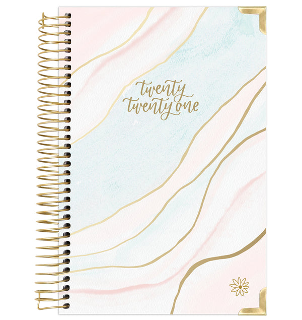 Ethereal Marble 2021 Hard Cover Daily Planner