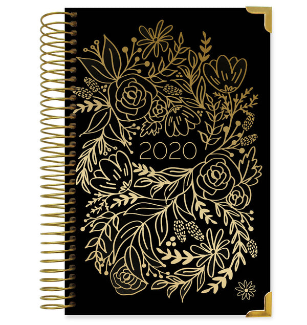 Bloom Gold Embroidery Hard Cover 2020 Daily Planner