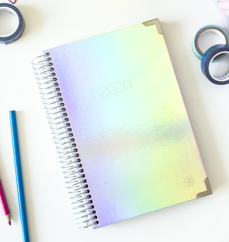 Bloom Iridescent Hard Cover 2020 Daily Planner Display
