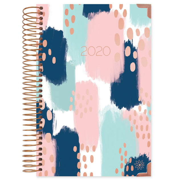 Bloom Paint Strokes Hard Cover 2020 Daily Planner