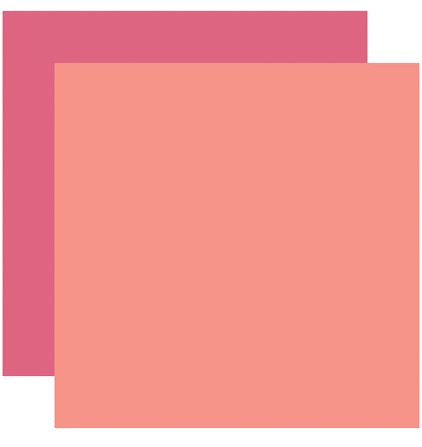 Echo Park Have Faith Solid Kit, 12x12 Pink Coral Cardstock Paper
