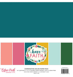 Echo Park Have Faith Solid Kit, 12x12 Cardstock Paper