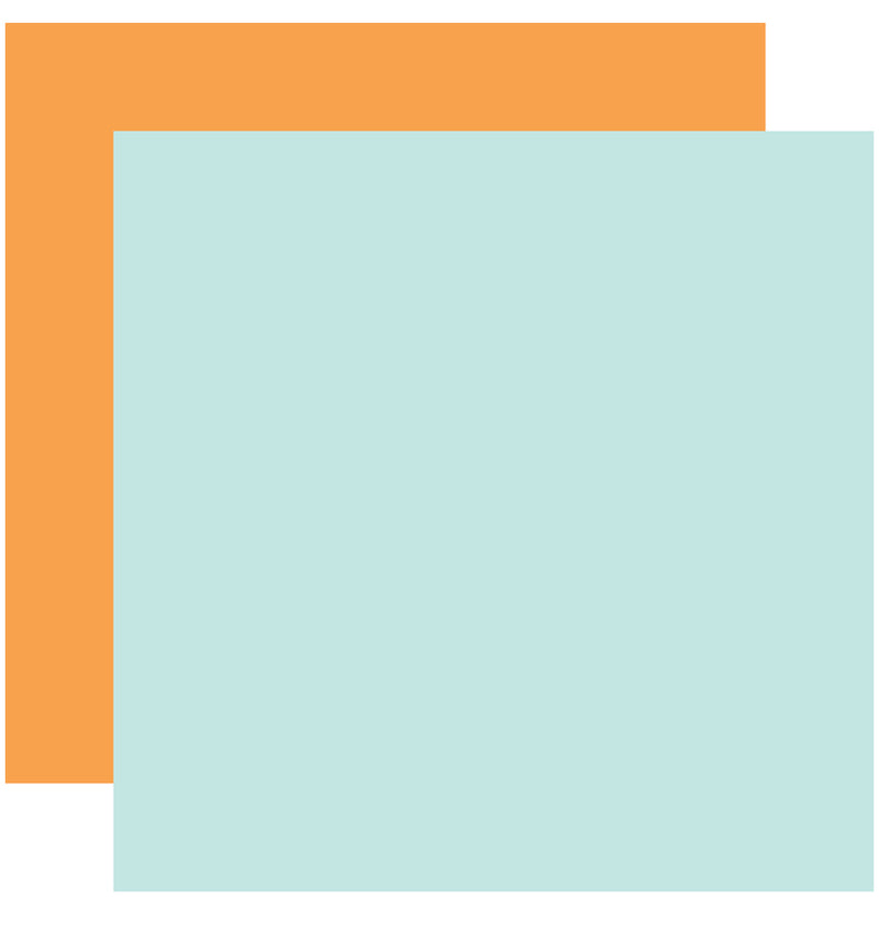 "Echo Park Hello Baby Boy Solid Kit, 12""x12"" Light Blue Orange Cardstock Paper"