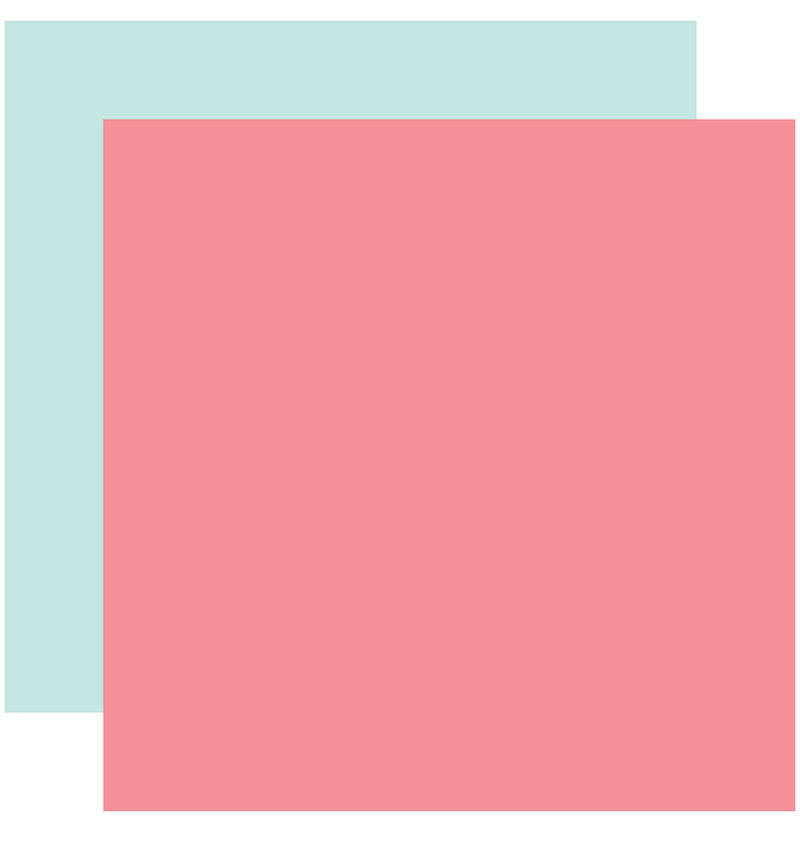 "Echo Park Hello Baby Girl Solid Kit, 12""x12"" Dark Pink Light Blue Solid Cardstock Paper"