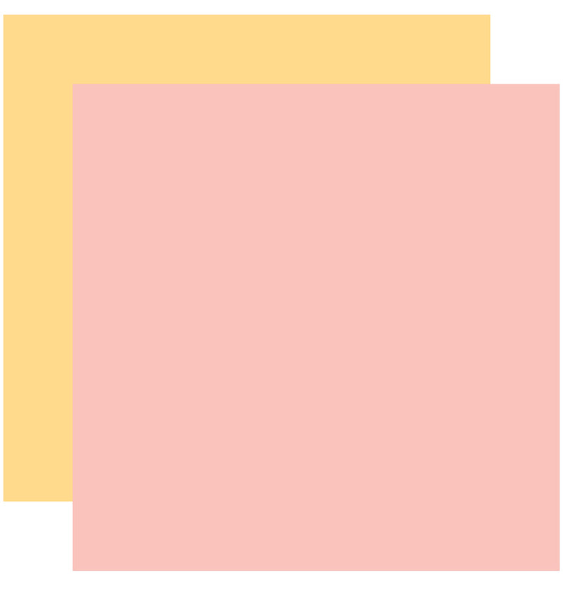 "Echo Park Hello Baby Girl Solid Kit, 12""x12"" Light Pink Yellow Solid Cardstock Paper"