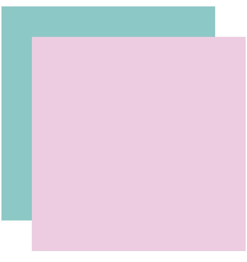 "Echo Park Hello Baby Girl Solid Kit, 12""x12"" Purple Teal Solid Cardstock Paper"