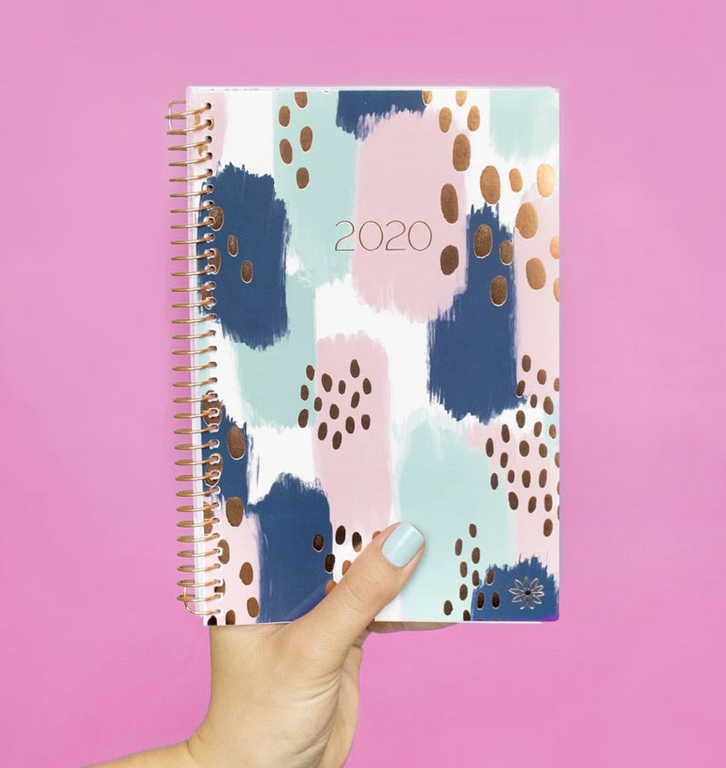 Holding a Bloom Paint Strokes 2020 Soft Cover Daily Planner