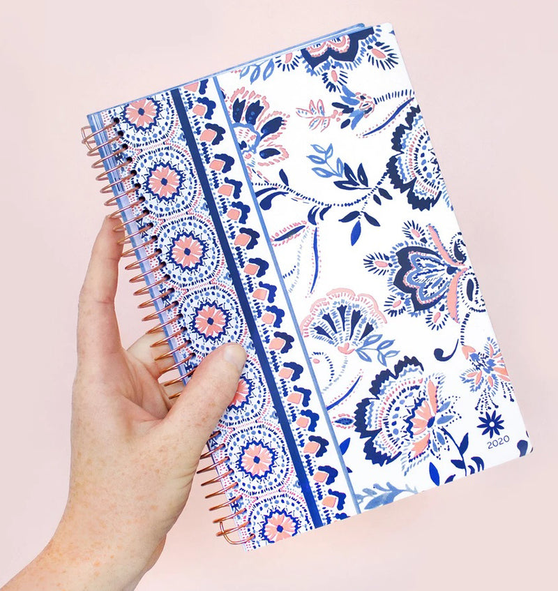 Holding a Bloom Paisley 2020 Soft Cover Daily Planner