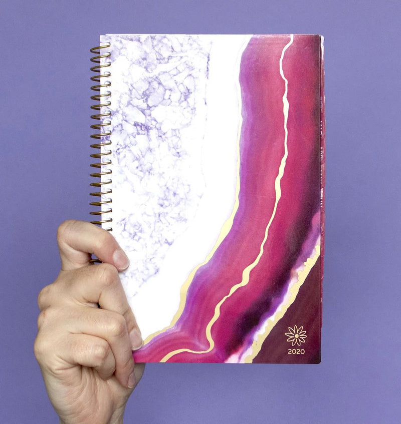 Holding a Bloom Purple Agate 2020 Soft Cover Daily Planner