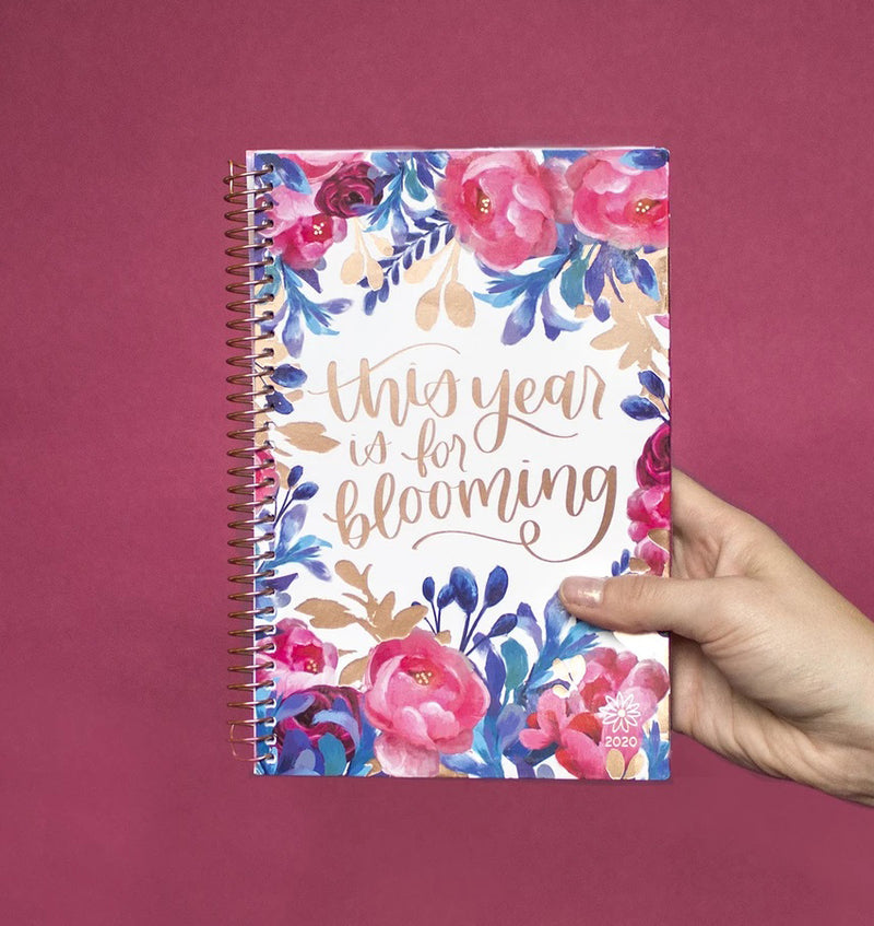 Holding a Bloom This Year Is For Blooming 2020 Soft Cover Daily Planner