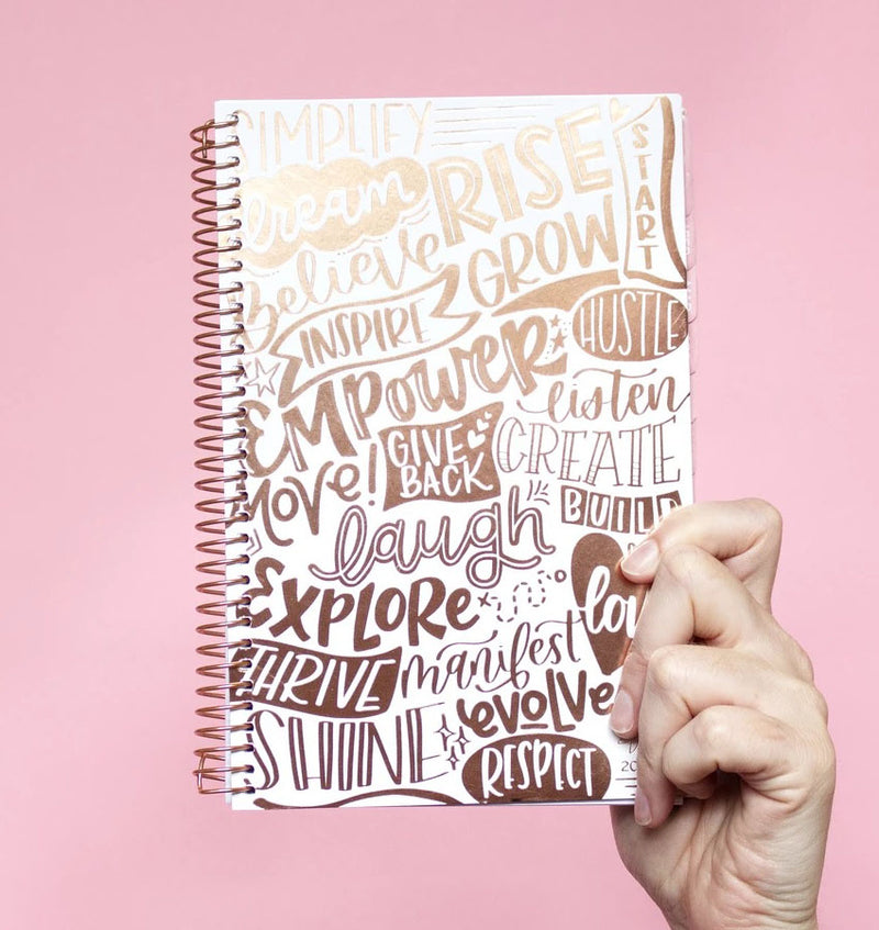 Holding a Bloom Word Of The Year 2020 Soft Cover Daily Planner