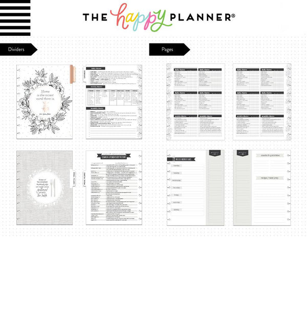 Home Household Expansion Pack (Classic Happy Planner) Dividers and Pages