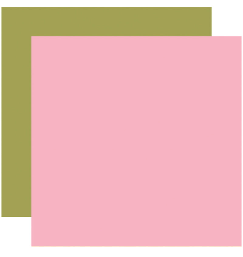 Echo Park I Love Crafting Pink Green 12x12 Cardstock Paper