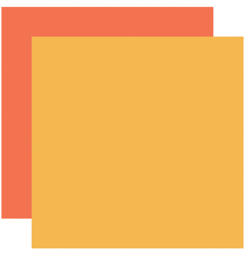 Echo Park I Love Crafting Yellow Orange 12x12 Cardstock Paper