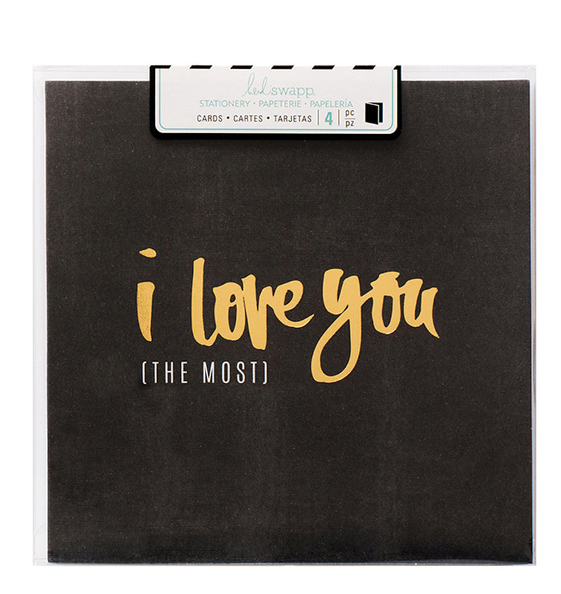 Heidi Swapp I Love You The Most Square Cards 4pcs