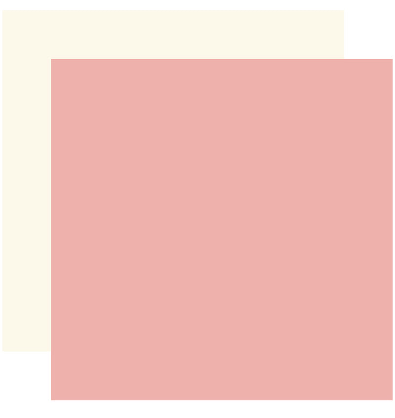 "Echo Park Just Married Solid Kit, 12""x12"" Pink Cream Cardstock Paper"
