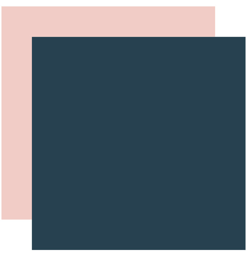 "Echo Park Just Married Solid Kit, 12""x12"" Navy Pink Cardstock Paper"