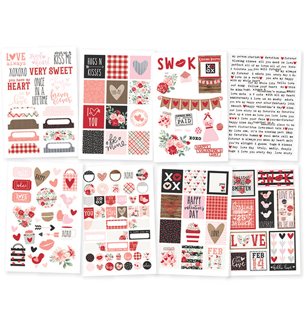 Simple Stories Kissing Booth 4x6 Sticker Sheets 8pcs