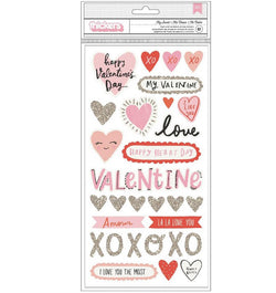 American Crafts La La Love Valentine Foam Thickers Front