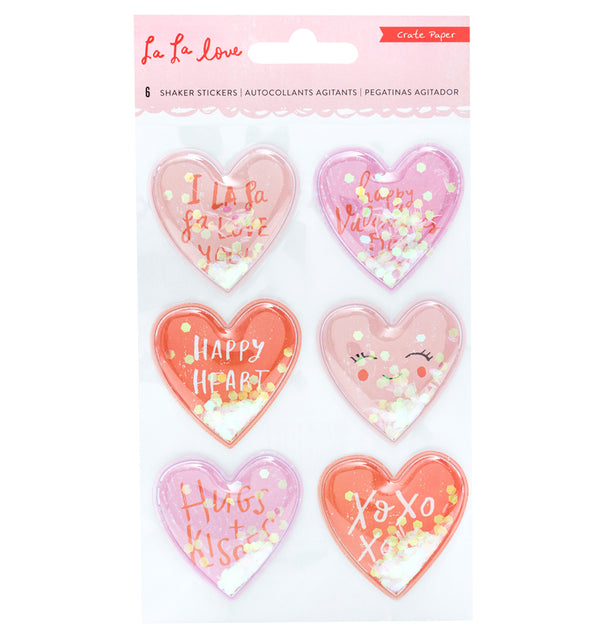 Crate Paper La La Love Heart Shaker Stickers