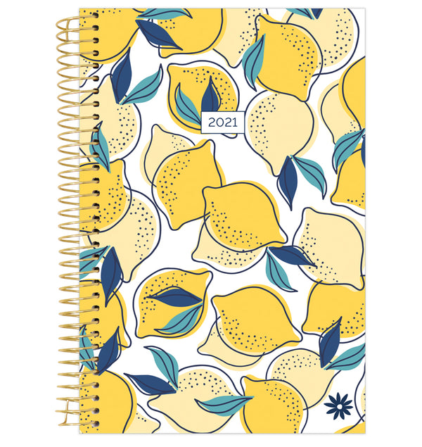Lemons 2021 Soft Cover Daily Planner
