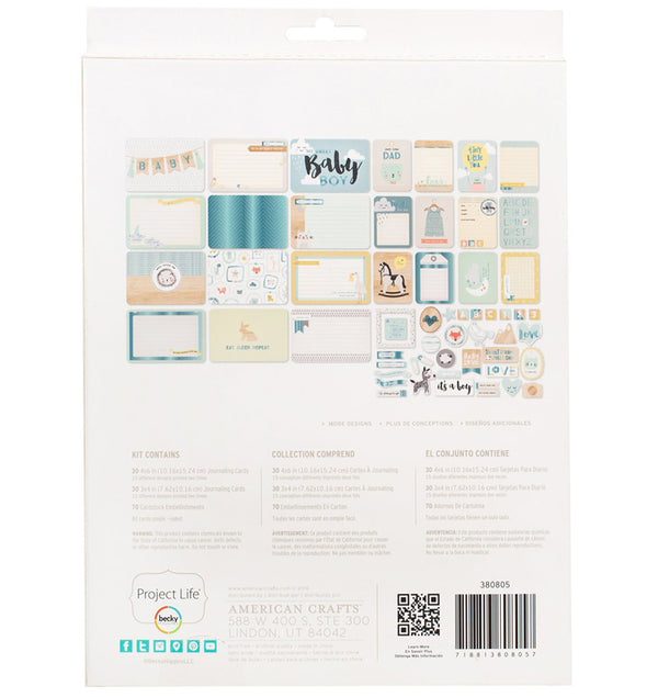 Project Life Little You Boys Collection Value Kit with Foil Accents Back