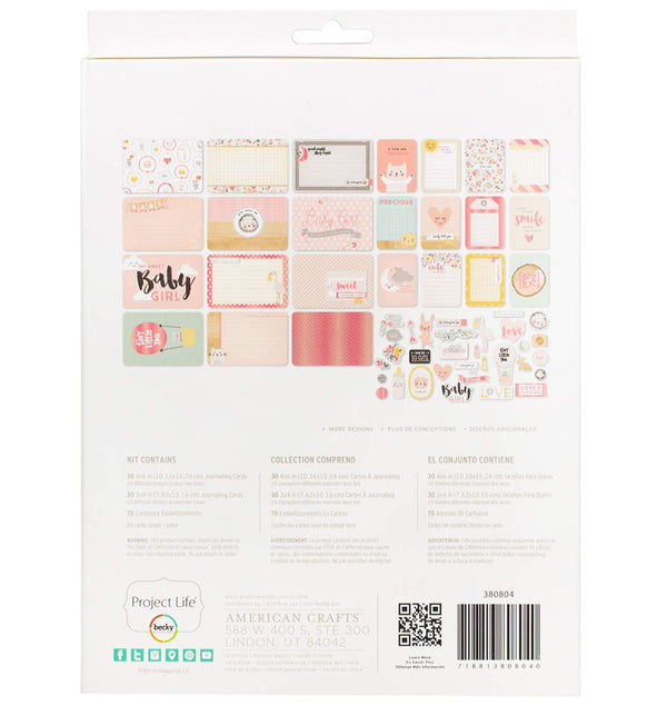 Project Life Little You Girls Collection Value Kit with Foil Accents Back