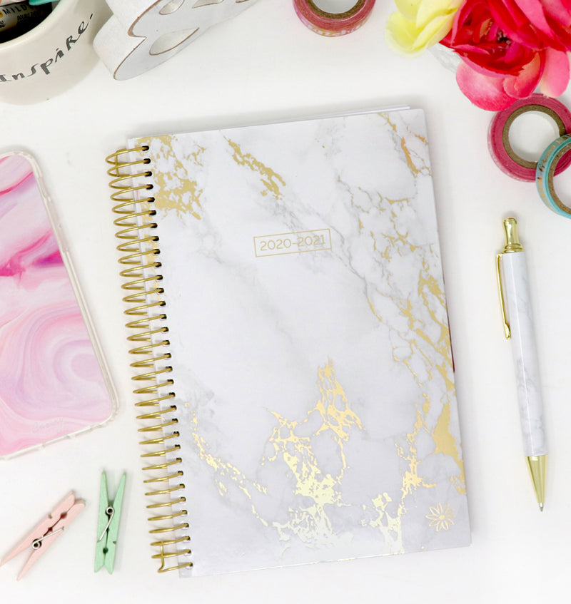 Marble 2020-2021 Soft Cover Daily Planner