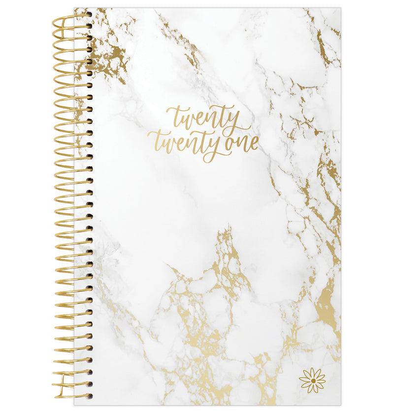 Marble 2021 Soft Cover Daily Planner