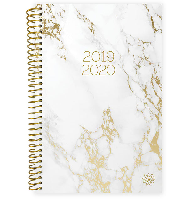Marble 2019-2020 Bloom Soft Cover Daily Planner