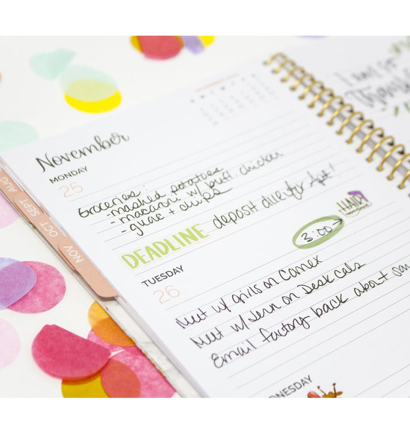 Marble 2019-2020 Bloom Soft Cover Daily Planner Weekly View