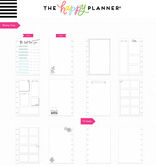 Color Me Happy Mini Happy Notes™ Journal (Dot Grid) Page Layouts