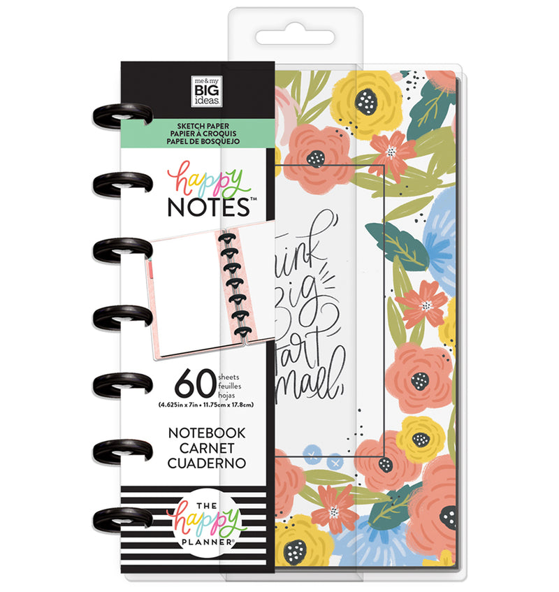 Think Big Start Small Mini Happy Notes™ (Blank) Cover with Tab