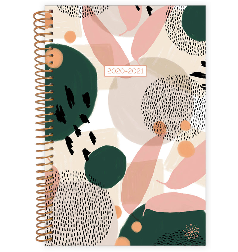 Modern Abstract 2020-2021 Soft Cover Daily Planner