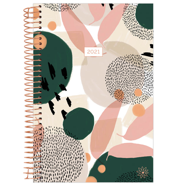 Modern Abstract 2021 Soft Cover Daily Planner