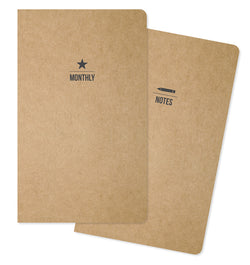 Carpe Diem Monthly & Lined Traveller's Notebook Inserts