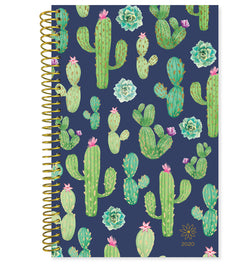 Bloom Navy Cacti 2020 Soft Cover Daily Planner