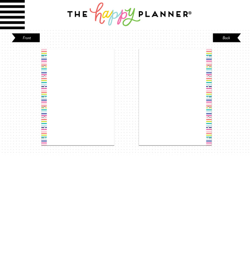 Blank Note Paper (Classic Happy Planner) Page Layout