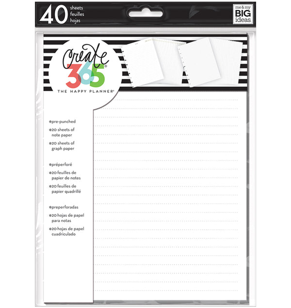Note & Graph Paper (Classic Happy Planner) 40pcs