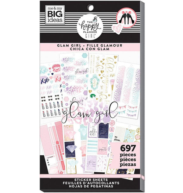 Glam Girl Planner Sticker Pack (861pcs)